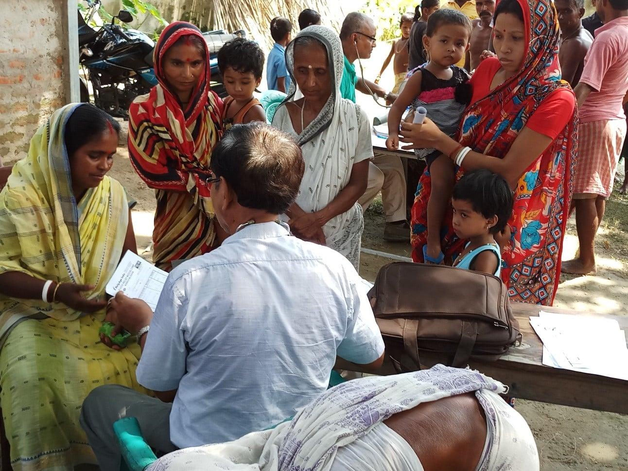 Medical Relief Camp held at L P School Teteliguri village